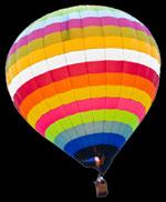 Air Balloon flying high
